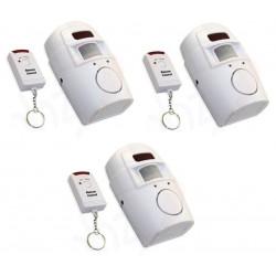 3 Ir allarme rilevatore di movimento autonomo 3 telecomando e il volume della sirena st205