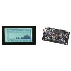 Analizador audio 2. 4 o 8 ohms 300mw hasta 1200w k8098 alimentacion 12v vizualizador digital