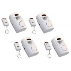 4 Ir allarme rilevatore di movimento autonomo 4 telecomando e il volume della sirena st205