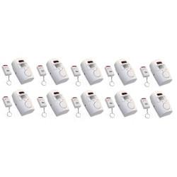 10 Ir allarme rilevatore di movimento autonomo 10 telecomando e il volume della sirena st205