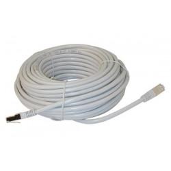 Cordon 10m rj45 vers rj45 8p/8c 100mbps pour reseau lan cable ftp cw105 connecteur