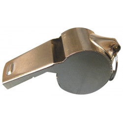 Sifflet métal police militaire à roulette bille tonalité haute special arbitre boite de nuit