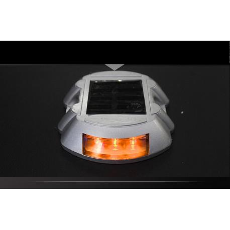 2 Iluminación solar de la baliza del palillo del perno prisionero ámbar del camino señalización del tráfico de la seguridad