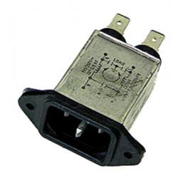 Enchufe filtro sector 110v 220v 230v 240v iec 2p+t 6a 250v alps06256a
