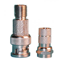 Plug 8mm male bnc threaded plug for cable bnc plug (8 mm) for 125 male treaded plug for coaxial cables tv radio male threaded pl
