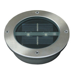 Ranex led solar ground spot round