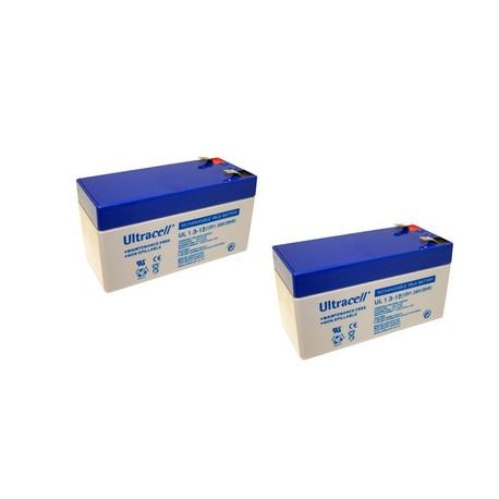 2 baterías recargables 12v 1.3ah igual 24v para motor nice nips124 PS124 Nice POPKit Hyke Hopp Wingo Robus Roadkit