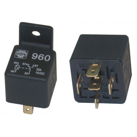 2 Rele' auto 12vcc 1 contatto no nf 30a 12vcc ru12301 aumento potenza allarme auto