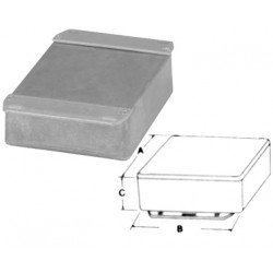 Boitier alu 153 x 82 x 46 mm coffre coffret boite aluminium ha1590p1fl