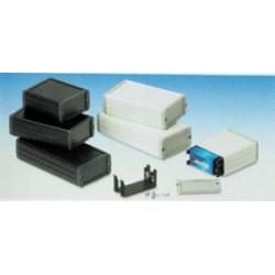 Coffret metallique aluminium noir 160x85.8x36.9mm coffre boite boitier alu hatekal 23e29