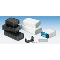 Coffret metallique aluminium noir 175x105.9x45.8 mm coffre boite boitier alu hatekam 33 9