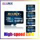 Tarjeta MicroSD de 256 gb con adaptador SD para teléfonos inteligentes, tabletas y cámaras digitales