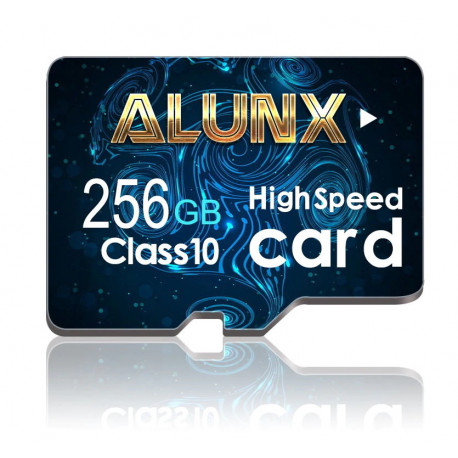 256gb MicroSD card with SD adapter for smartphones, tablets and digital cameras