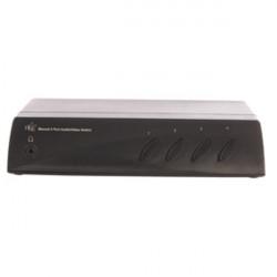 Commutatore audio video manuale hq a 4 porte