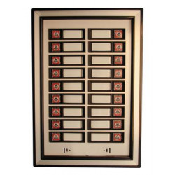 Platine 18 boutons supplementaires pour interphone collectif platines dp54b18