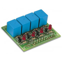 Circuit 4 relay 9v 300ma kit (unassembled) 4 outputs 3a k2633