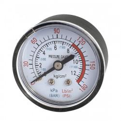 Wasserdruckmesser 1/4 40mm 0 ~ 200psi 0 ~ 14bar für Hydraulikzifferblatt