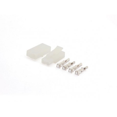 Jeu de connecteur multifonction 6.2mm 1 x 2 poles pour câbles de 0.5 à 2.1 mm² 50v 10a