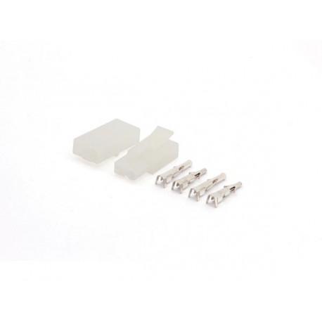 Juego de conectores multifunción 6,2 mm 1 x 2 polos para cables de 0,5 a 2,1 mm² 50v 10a