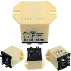 Relè di alimentazione generale JQX-30F 2Z tipo plug-in CC 12V 30A DPDT 8 pin