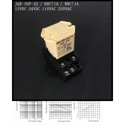 JQX-30F 2Z Plug In Type dc 12V 30A DPDT 8 pin general power relay