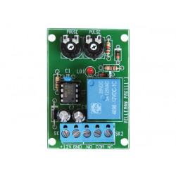 12v interval timer adjustable pulsation between 0.5 and 5s NO NC 3A relay adjustable pause between 2.5 and 60s WMT136