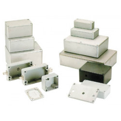 Coffret metallique etanche en aluminium 115 x 90 x 55mm g113 coffre boite boitier
