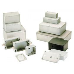 Coffret metallique etanche en aluminium  222 x 146 x 55mm g124 coffre boite boitier