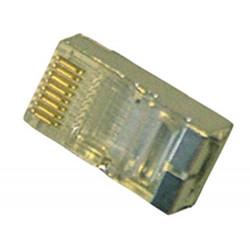 Fiche modulaire rj45 8p/8c pour reseau (1 pièce) plug mâle 8 poles blindee co8p8cmbl