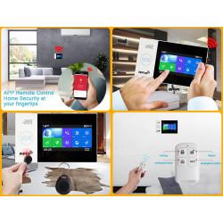 Allarme wireless app tuya gsm wifi 2 telecomando 2 tag 1 contatto sf 1 radio ir 1 sirena cablata