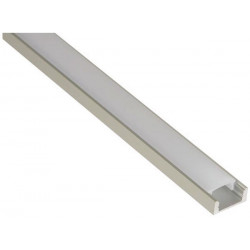 Perfil de aluminio para cintas con leds plano 2m