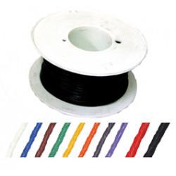 Fil de cablage rigide 5/10 bleu 200m cuivre etame monobrin cable fie235b