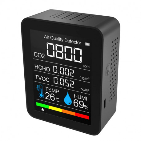 CO2 Meter Tester Sensor Humidity Temperature Air Quality Carbon Dioxide TVOC HCHO