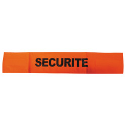 Armband securite orange fluorescent velcro security armband security armbands