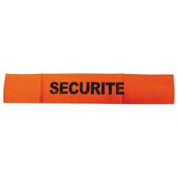 Armbinde fur sicherheit farbe orange und schwarz fluoreszierend mit klettverschluss armbinde sicherheit armbinde