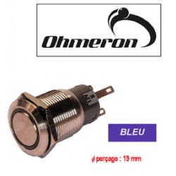 Bistabilen schalter push safety blauen led-licht cods7112b