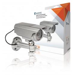 Camera video factice sas-dummy111s ir exterieur etanche solaire led clignoteur surveillance