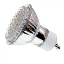Gu10 2,4 w 60 led 1.5w 220v faretti alogeni illuminazione 240v 230v bianco puro di scarsa luminosità conso