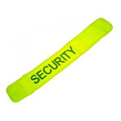 Brassard jaune fluo en471 securite routiere velcro haute visibilite sfby1 protection bras