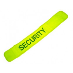 Brazaleta reflectante amarillo 'security'