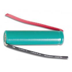 Batteria ricaricabile nimh aaa lr03 1.2v 900mah r3 alette hr3lfc saldatura