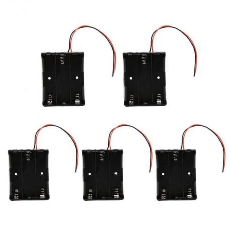 5 Battery Holder Case for 3 x 18650 3.7V Batteries