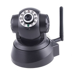 Wireless ip color camera network with pan tilt night vision 2 way audio