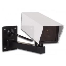 Camera video factice dissuasive interieur exterieur camd2 etanche voyant coffret metal support