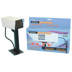 Dummy camera + led + metal case + support bogus camera with support dummy video surveillance led metal case suport camera survei