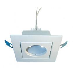 Illuminazione bassa tensione 12v quadrata orientabile da incastro