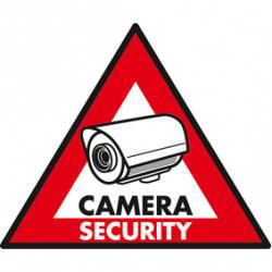 Etikett aufkleber abschreckung panel überwachungskamera dry st cs aufkleber überwachung