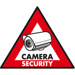 Etiqueta adhesiva etiqueta disuasiva panel de seguridad cámara st dry cs pegatina de monitoreo