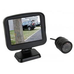 Caméra video auto de recul 6m + moniteu surveillance camset27 afficheur couleur pare choc
