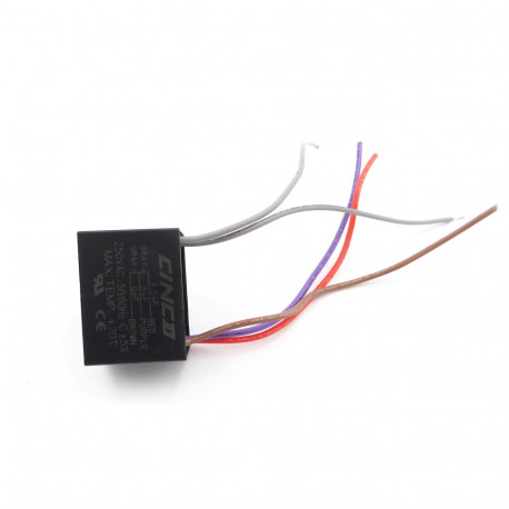 Condensateur De Ventilateur De Plafond Cbb61 4.5Uf + 5Uf + 6uf 5 Fils 250 Vca
